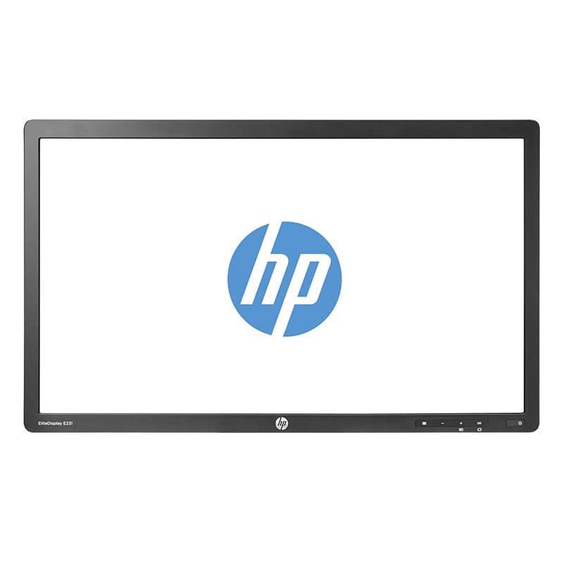 Monitor LED Refurbished HP EliteDisplay E231, 23 inch Full HD, Fara Picior