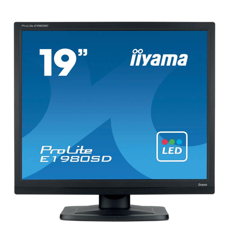 Monitor Refurbished LED Iiyama PROLITE E1980SD, 19 inch