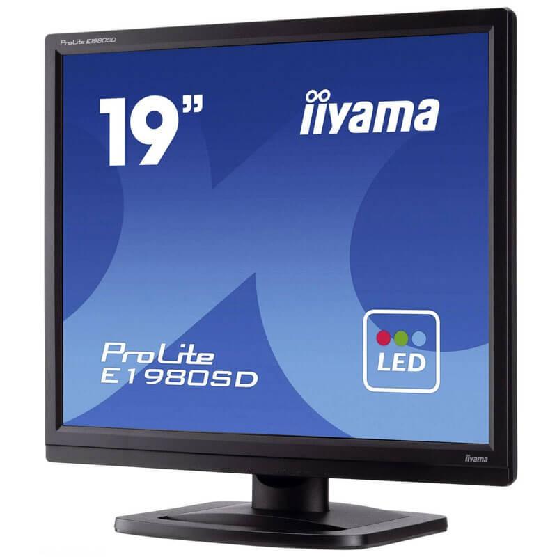 Monitor SH LED Iiyama PROLITE E1980SD, Grad A-, 19 inch