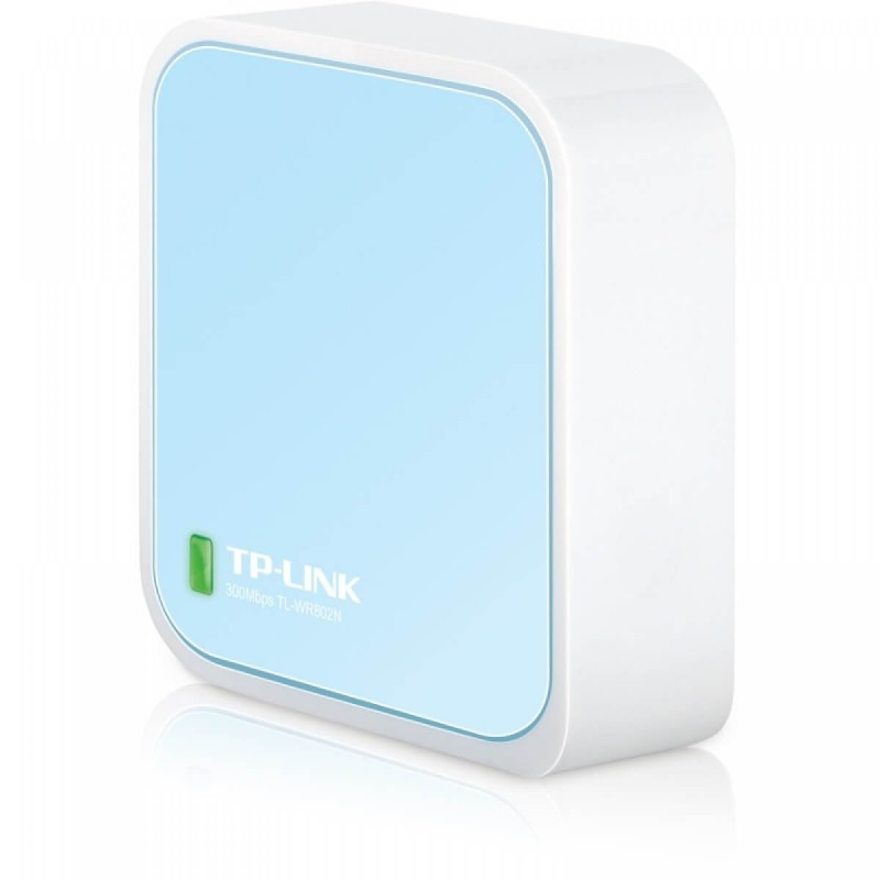 Nano Router Wireless Portabil TP-LINK N300 TL-WR802N, 1 port WAN/LAN