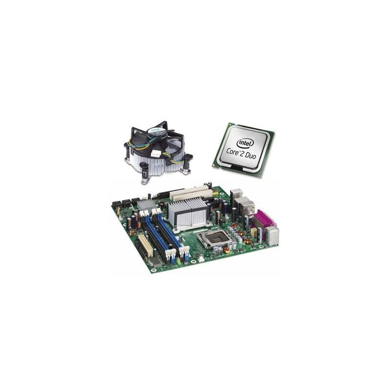 Placa de baza second hand Intel DQ965GF, Intel Core 2 Duo E7200, Cooler