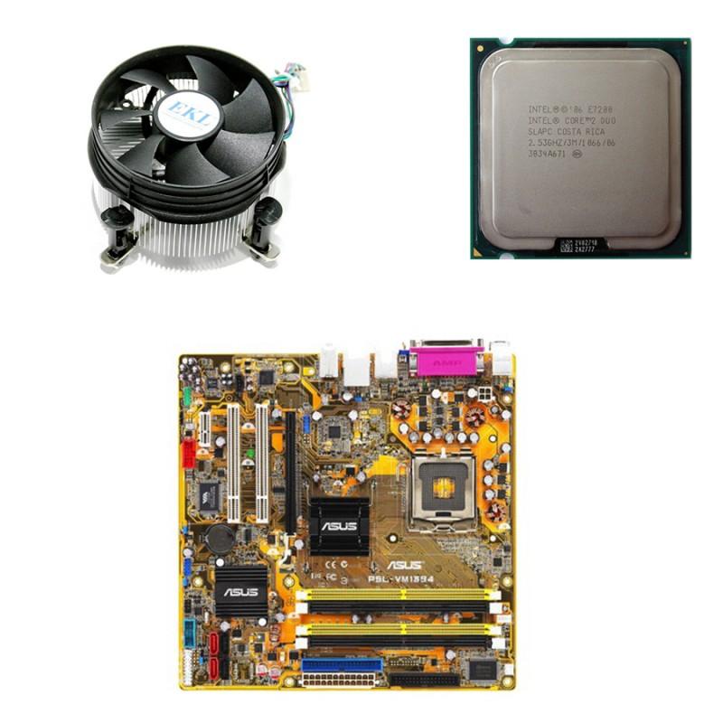 Placi de baza Refurbished Asus P5L-VM 1394, Core 2 Duo E7200, Cooler
