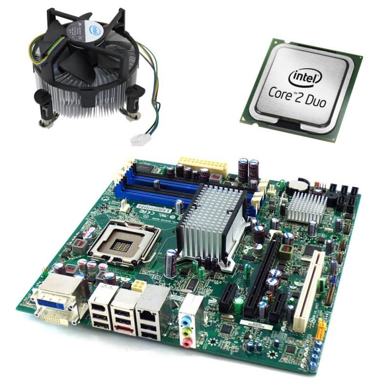 Placi de baza Refurbished Intel DQ45CB, Core 2 Duo E6550, Cooler