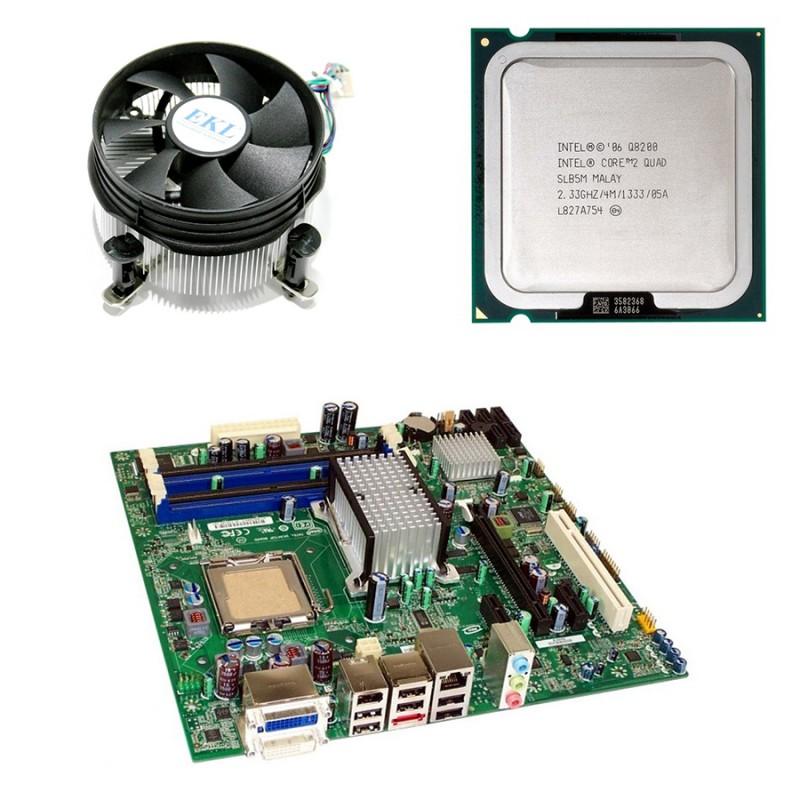 Placi de baza Refurbished Intel DQ45CB, Core 2 Quad Q8200, Cooler