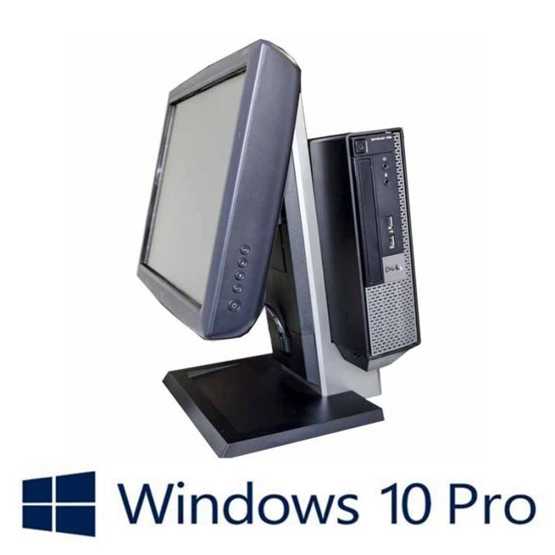 Sisteme POS Refurbished Dell Optiplex 7010 USFF, i3-3220, Elo 1515L, Win 10 Pro