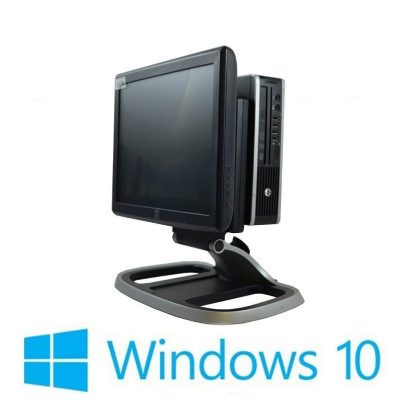 Sisteme POS Refurbished HP Compaq 8200 Elite USFF, i3-2100, Elo 1515L, Win 10 Home