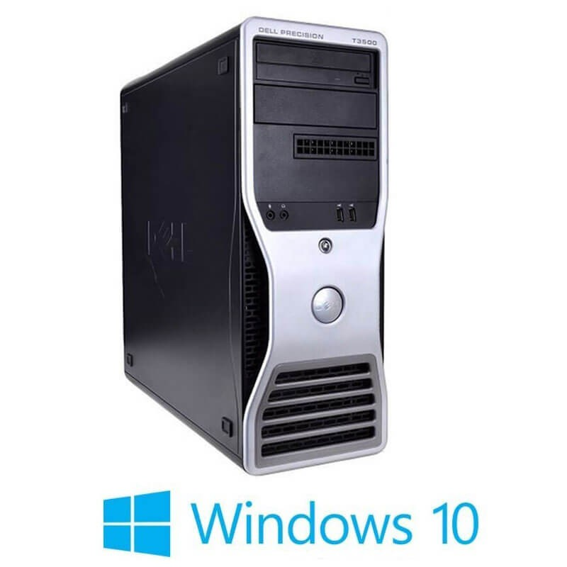 Statie grafica Refurbished Dell Precision T3500, Xeon Hexa Core X5650, Win 10 Home