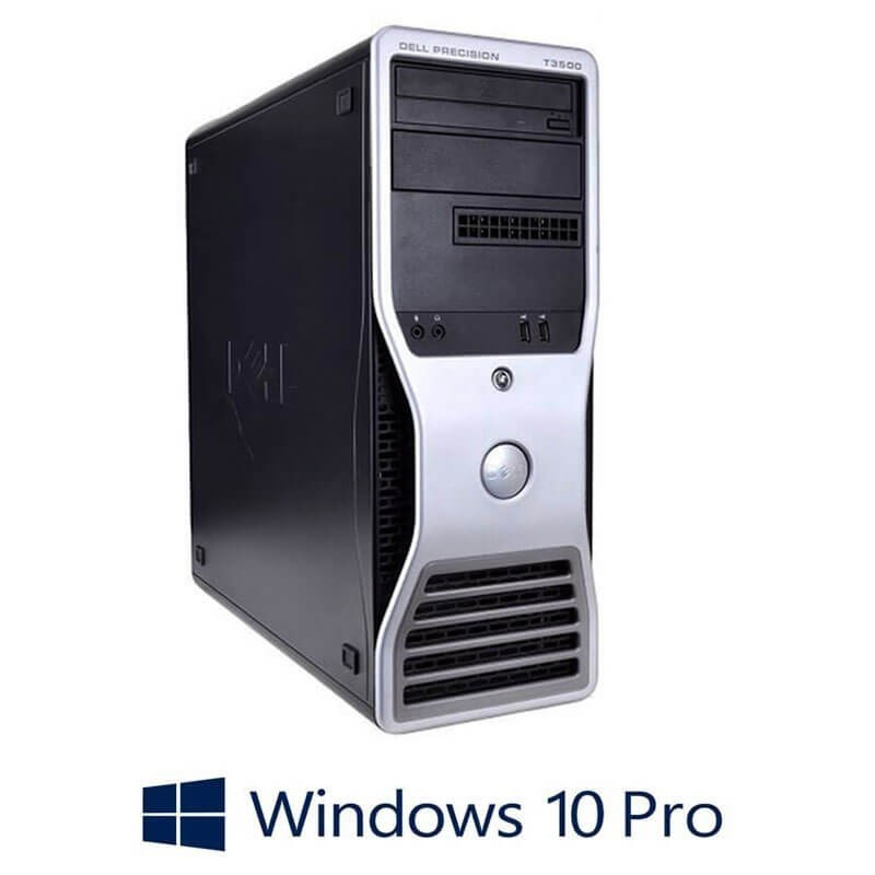 Statie grafica Refurbished Dell Precision T3500, Xeon Hexa Core X5650, Win 10 Pro