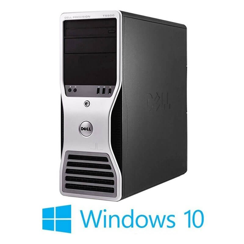 Statie grafica refurbished Dell Precision T5500, Xeon Hexa Core X5650, 24GB, Win 10 Home