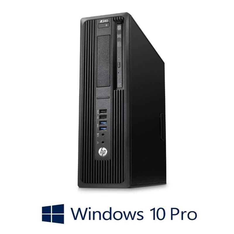 Statie grafica Refurbished HP Z240 SFF, Quad Core i5-7400, 16GB DDR4, Win 10 Pro
