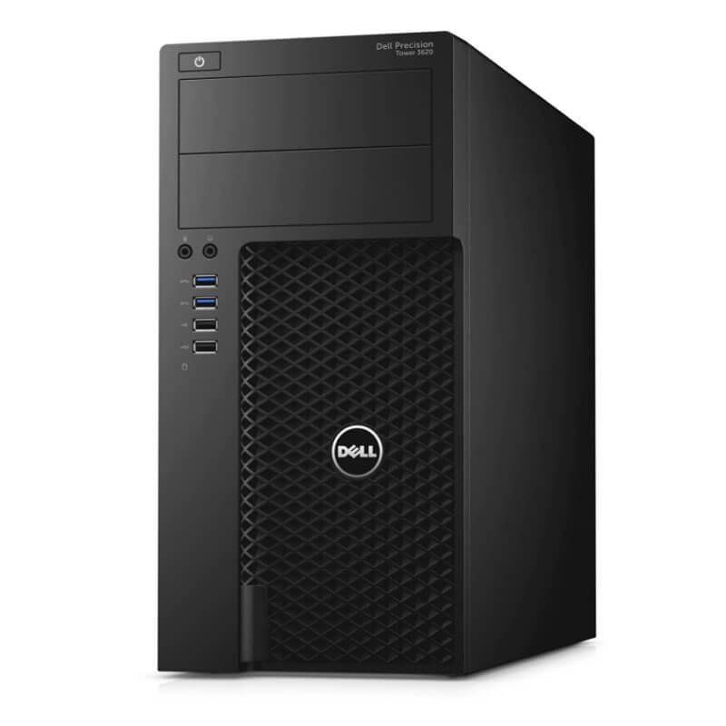 Statie grafica second hand Dell Precision 3620 MT, Quad Core i7-6700T, SSD, GeForce GT 240