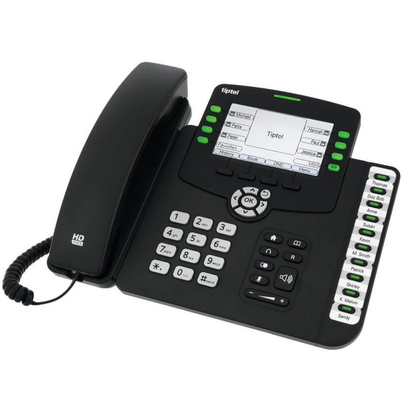 Telefon IP Tiptel 3240 HD, 6-line, 4.3 inci LCD